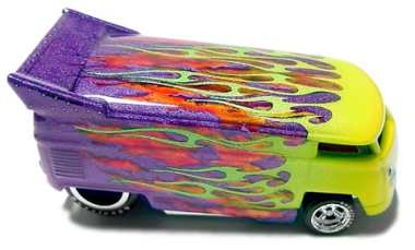 KB Kustoms RIPPED FLAME VW Bus, circa 2006.
